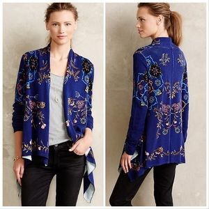 Anthropologie Sleeping on Snow floral sweater, S.
